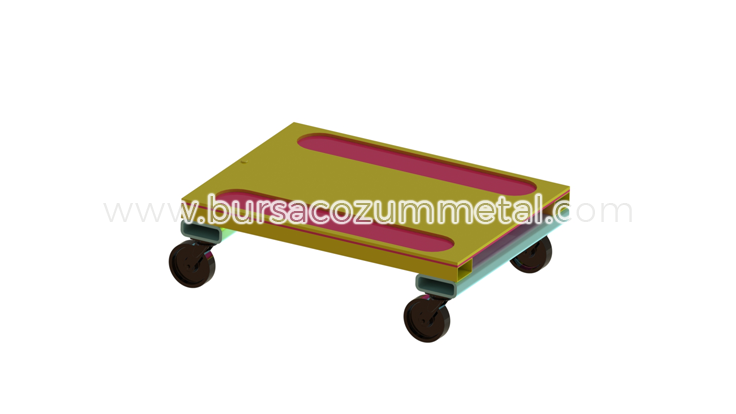 Tekerlekli Standart Metal Palet